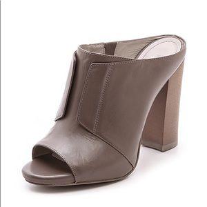 Pour La Victoire Eva Gray Mule Sandals, Sz 8.5
